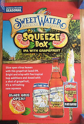 Beer Poster Sweet Water Brewing ~ Squeezebox IPA w/ Grapefruit Trout Fishing