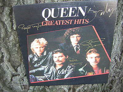 Queen Signed Lp Greatest Hits Freddie Mercury All 4