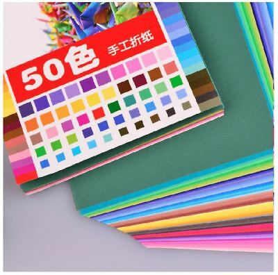 50PCS of Different Color / Pack Origama Craft DIY Square Paper ~ 4 Sizes Option