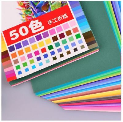 50PCS of Different Color / Pack Origami Craft DIY Square Paper ~ 4 Sizes Option
