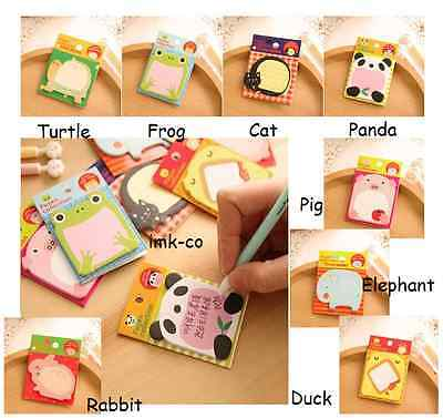Mini Pack of Animal Paper Office Sticky Memo Pad Writing Note Point Maker