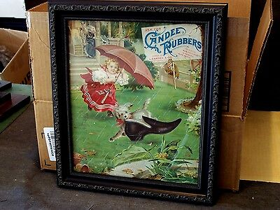 """""""Ask For Candee Rubbers"""" early 1900's Poster-Litho on heavy cardboard-Nice"""