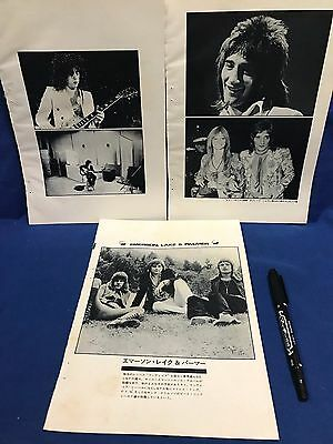 Emerson Lake Palmer ELP T. Rex Rod Stewart B/W Clipping Japan Magazine 1973 06