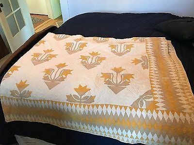 Antique Hand Sewn Carolina Lily Queen Sized Quilt