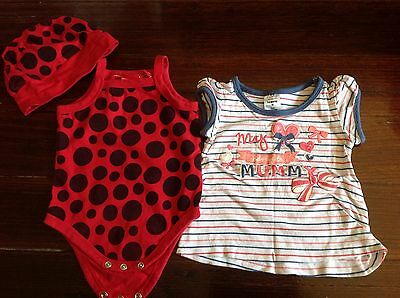 Bulk baby girl clothes size 00 (9 items)