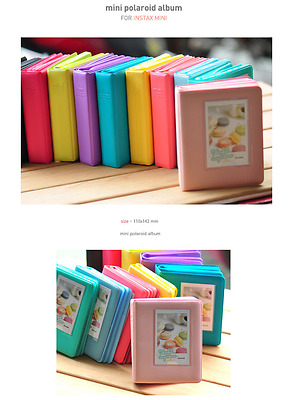 Candy Color Polaroid 64 Pkt Mini Photo Album FujiFilm Instax 7 8 90 Fuji Film