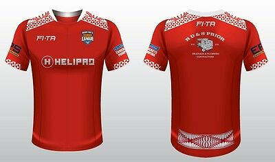 Tonga Mate Ma'a 2017 Rugby League Players Training T Shirt Sizes S-5XL! BNWT's