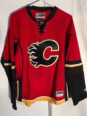 NHL Calgary Flames Premier Ice Hockey Shirt Jersey Women's Ladies Girls