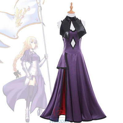 Fate/Grand Order Jeanne d'Arc Alter Ruler Purple Dress Cosplay Costum Outfit