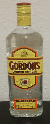 Gordon's London Dry Gin bottle 70cl cocktail gin 37,5% mixed cuba jamaica drink