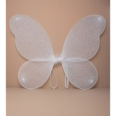 NEW White net fairy wings with glitter Adult childrens party hen do fancy dress