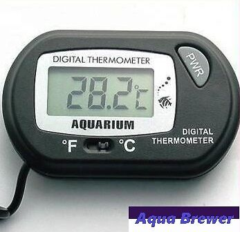 Digital LCD Aquarium and Reptile Thermometer for Fish tank