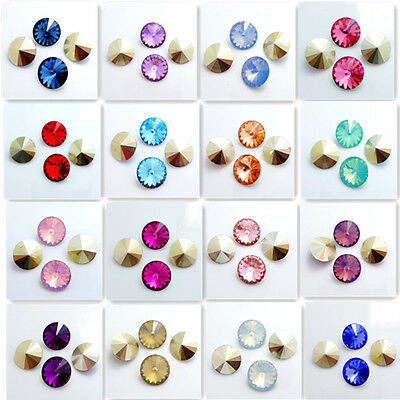 Wholesale hot 50PCS Resin Rhinestones Rivoli Beads 14mm DIY Multicolor