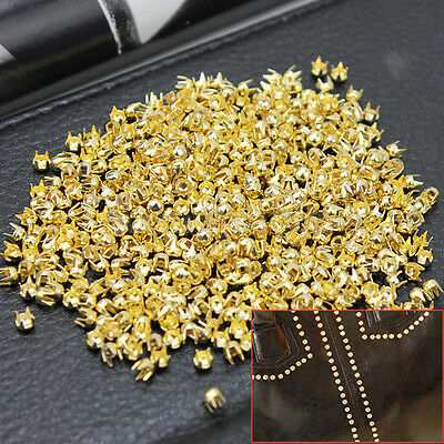 1000 Pcs Copper Punk Round Dome Rivet Studs For Belt Bag Leathercraft Decor DIY