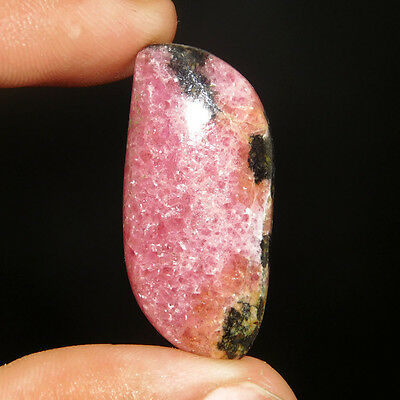 30.00 Cts A+ 100% Natural Superior Fancy Shape Rhodonite 34X16 Cabochon
