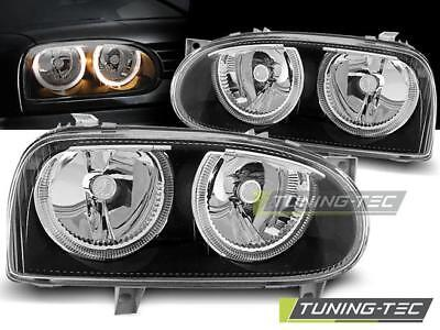 Angel Eyes Scheinwerfer Set Volkswagen Golf (III) BJ 09.91-08.97 Klarglas / Schw