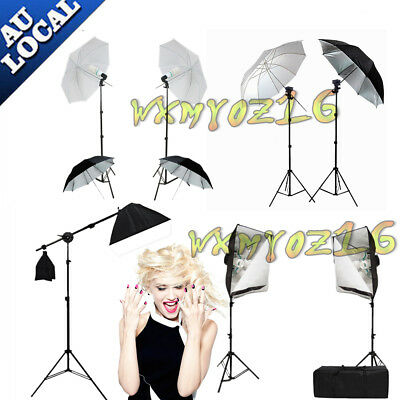 Studio Continuous Lighting Softbox Boom Arm Soft Box Video Stand Photography KIT