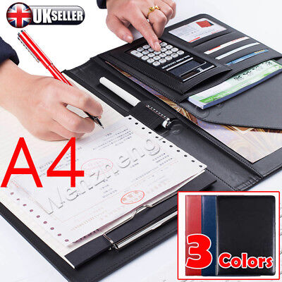 A4 Conference Folder Folio Case Business PU Leather Case Conference Folder Pad