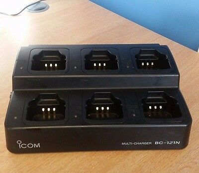 Icom Radio BC-121N  Six Way Multi-Unit Desktop Charger & BC-124 AC Power supply