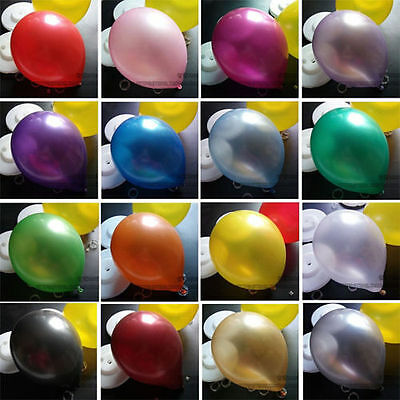 "100 - 10"" PLAIN BALONS BALLONS helium BALLOONS Quality Birthday Wedding BALOON m"