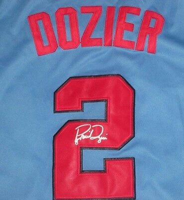 All Star Brian Dozier Signed Minnesota Twins Throwback Jersey Coa
