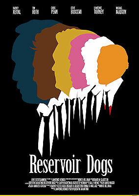 Quentin Tarantino Movies Reservoir Dogs A3 260 Gsm Print Poster