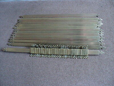 Full Set 14 Solid  Brass Stair Rods And 28 Original Brackets