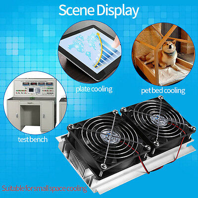 120W DIY Dual Core Semiconductor Refrigerator Air Conditioner Cooling Equipm xx