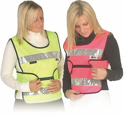 HyVIZ Reflective Visibility Adjustable Tabard Child/ Adult, Yellow/ Pink 3272P