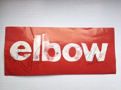 Elbow autographs signatures of all the band - sticker from 2000s