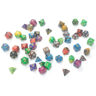7PCS Resin Dice Set Board Bar Games Roleplay Accessories D4-D20 Multi-sided Toy