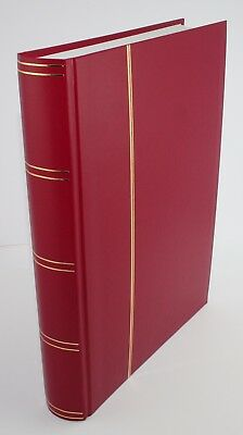 Sarum Giant 32/64 White Page Stockbook - Red