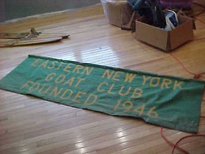 """Vintage Goat Club Eastern NY Banner Canvas Parade 81"""" x 26"""""""