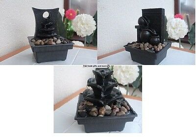 Indoor Battery Operated Table Top Stone Effect Water Fountain/Feature- 3 Designs