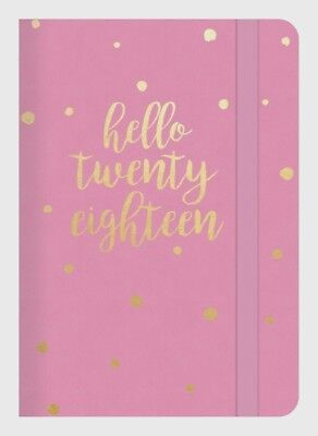 Diary 2018 Debden Plan + Note Pink A5 Week to View PN85 22x15.5cm
