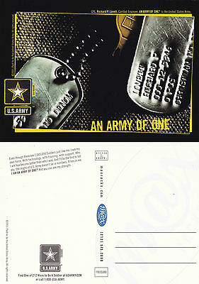 US ARMY AN ARMY OF ONE RECRUITMENT UNUSED COLOUR POSTCARD (a)