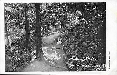 Midway to the Summit Sager's Valparasio IN nice postcard not postally used