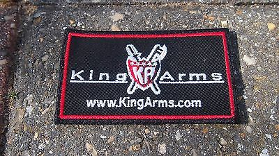 King Arms Airsoft Morale Patch Black Velcro