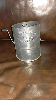 Bromwell's Three Cup Measuring Sifter Vintage