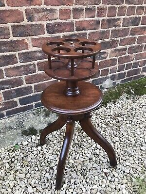 Victorian mahogany quadropod  rotating buffet dumb waiter .Delivery £60