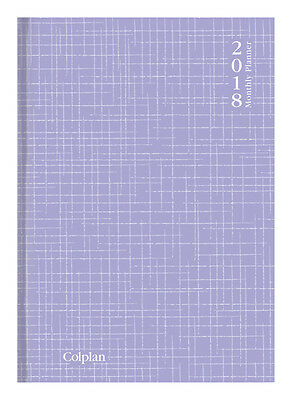 Diary 2018 Colplan Collins Lilac Planner A4 Month to View 51.C33