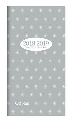 Diary 2018 2019 Collins Colplan Grey 2 Year Planner B6/7 Month to View 11W.V33