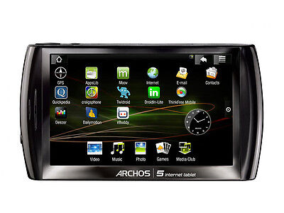 Archos 5 Internet Tablet 501317 5-Zoll Android 32GB Schwarz
