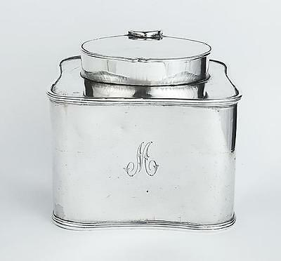 George III OLD SHEFFIELD PLATE Square TEA CADDY c1800