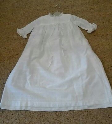 Traditional Handmade Cotton and Lace Christening Dress Gown