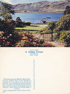 1970's THE VIEW FROM INVEREWE GARDENS ROSS & CROMARTY SCOTLAND COLOUR POSTCARD