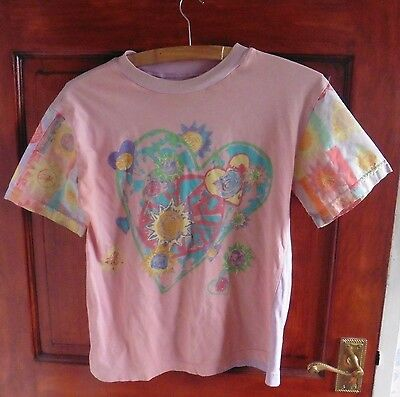 c1993- Marks & Spencer Girls Short Sleeved T Shirt - Age 11- Coral - 100% Cotton
