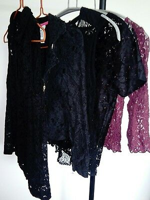 Job Lot vintage style lace tops clothing - theatre, Larp, Cosplay
