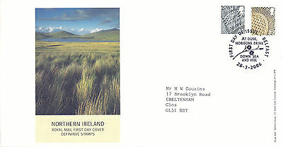 28 MARCH 2006 44p & 72p N IRELAND DEFINITIVE VALUES RM FIRST DAY COVER BELFAST