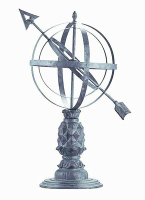 Williamsburg Pineapple Armillary Aluminum Garden Statue